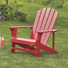 classic red painted wood adirondack chair model 4610 www