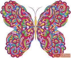 abstract pattern butterfly colourful abstract butterfly cross stitch kit yiotas xstitch art