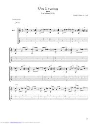 Feist La Meme Histoire - one evening guitar pro tab by feist musicnoteslib com