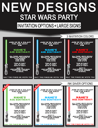 star wars birthday party invitations u0026 signs new designs