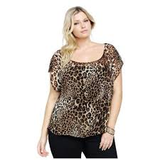 chiffon blouses for torrid plus size leopard leather trim chiffon blouse for