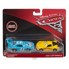 jeff corvette disney pixar cars 3 jeff gorvette king die cast vehicles 2 pack