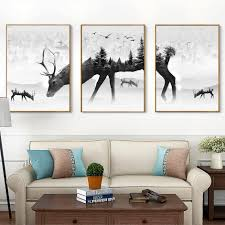 online buy wholesale black and white animal canvas from china
