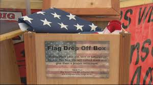 How To Dispose Of Us Flag Eagle Scout Project Behind Collection Retirement Of Flags Cbs