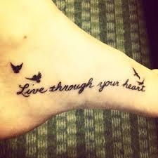 feather on foot tattoo my erin foot tattoo my mom u0027s handwriting and birds in