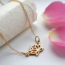 gold flowers necklace images Silver lotus flower necklace by lily charmed jpg