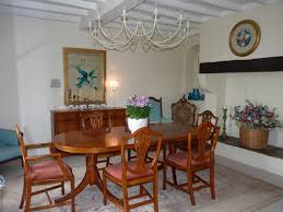 Landes Dining Room by Beautifully Renovated Landaise Farmhouse With Swimming Pool And