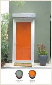 door accent colors for greenish gray colorfully behr color of the month fiery orange