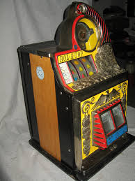 rol a top coin front 5c antique slot machine gameroom show