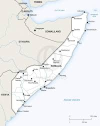 Map Of Somalia Vector Map Of Somalia Political One Stop Map