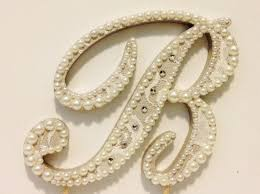 pearl monogram cake topper pearls and rhinestones accented vintage lace monogram cake topper