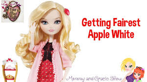 after high apple white doll after high getting fairest apple white doll review