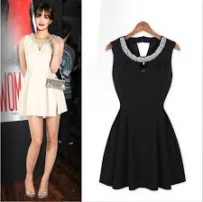 fashion trends sweetheart halter neck thick straps knee length
