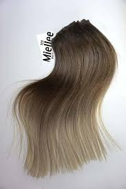 light ash blonde clip in hair extensions light ash brown balayage clip in extensions silky straight remy