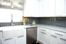 kitchens with subway tile backsplash grey subway tile kitchen traditional with white white grey