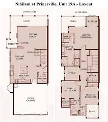 Townhome Floorplans Nihilani At Princeville Townhome 19a 3 Bedroom Mountain View