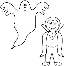 fabulous printable halloween coloring pages with vampire coloring