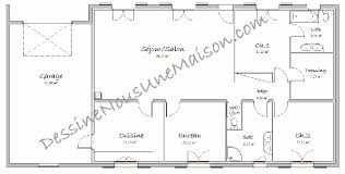 plan maison 3 chambres plain pied maison plain pied 3 chambres 75m2