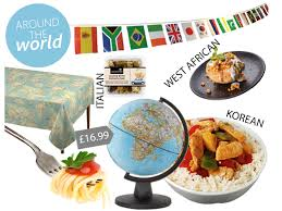 91 food ideas for large numbers the around world theme is