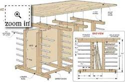 Wood Storage Rack Woodworking Plans by Trestle Rack Woodworking Plans And Information At Woodworkersworkshop