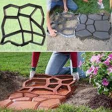 Quikrete Paver Mold by Diy Plastic Path Maker Mold Cement Brick Molds Stone Road