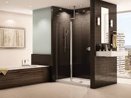 bathroom frameless shower doors for inspiring shower room divider enchanting dark daltile wall with frameless shower doors