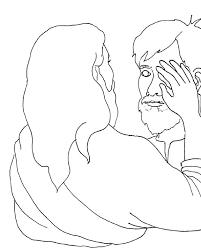 Was Bartimaeus Born Blind Lovely Jesus Heals Blind Bartimaeus Coloring Page Coloring Page