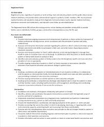 Registered Nurse Job Description Resume by Registered Nurse Job Description Resume Registered Nurse Examples