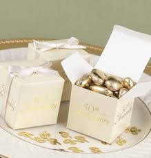 wedding favors unlimited 50th anniversary favor boxes set of 25