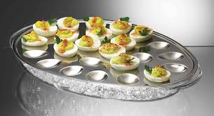 deviled egg serving plate prodyne ic 24 iced eggs platter kitchen dining