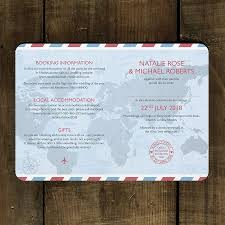 Accommodation Cards For Wedding Invitations Passport Wedding Invitation By Feel Good Wedding Invitations