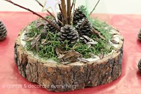 tree branch centerpieces tree trunk slice branch centerpiece organize and decorate