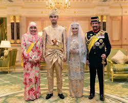 sultan hassanal bolkiah brunei u0027s royal couple muhammad ruzaini and princess hafizah