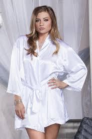Lingerie Bride Plus Size Bridal Robe With Diamonte Detail