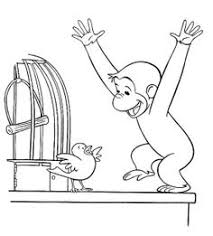 free printable curious george color page christmas coloring