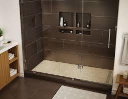 Modern Bathroom Rug by Bathroom Polka Dot Bathroom Rug Design With Dark Brown Tile Wall