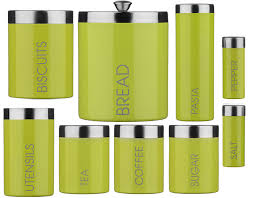 lime green kitchen canisters lime green enamel storage canisters set tea coffee sugar biscuits
