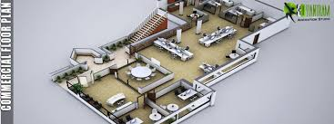 Commercial Floor Plan Design Architectural 3d Rendering Design And Animation Studio United