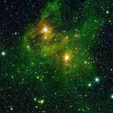 bright lights green city nasa spitzer space telescope
