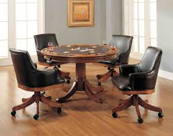 Dining Room Chairs With Arms And Casters Kitchen Table And Chairs With Casters Ellajanegoeppinger Com