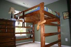 full size loft bed frame wood frame decorations