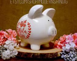 engraved piggy bank custom piggy bank etsy
