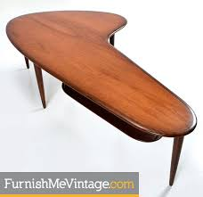 Boomerang Coffee Table Mid Century Modern Teak Boomerang Coffee Table