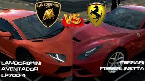 enzo vs lamborghini aventador forza 5 lamborghini aventador vs f12berlinetta