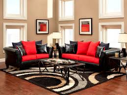 red black and white home decor red couch black white and