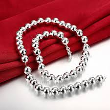 red chain necklace images N097 popular jewelry 10mm extra large silver plated ball chain jpg