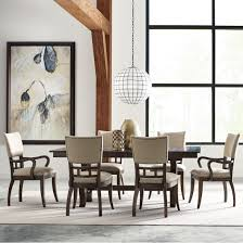Kincaid Dining Room Furniture Seven Piece Dining Set With Extendable Trestle Table And Tweed