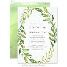 wedding invitations greenery greenery watercolor wreath wedding invitations print creek