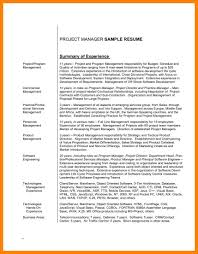 Project Manager Resume Summary 100 Best Program Manager Resume Infrastructure Project Manager