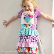 sew a diy ruffled kid u0027s apron the diy mommy